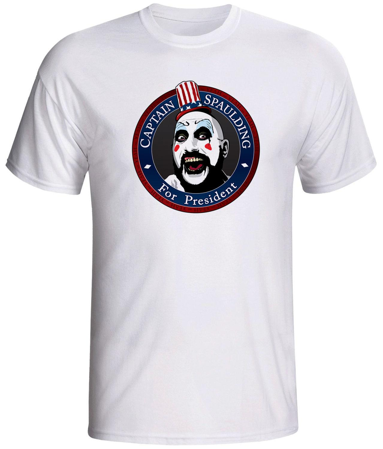 captain spaulding shirt the devils reject T-Shirt Casual Short Sleeve For Men Clothing Summer