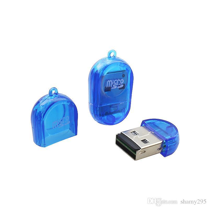Usb 2.0 Micro Sd TF T-Flash Mini Adaptador de Lector de Tarjeta Para PC Mac Portátil Tarjeta de Memoria Microsd de Alta Velocidad 480Mbps envío de alta calidad