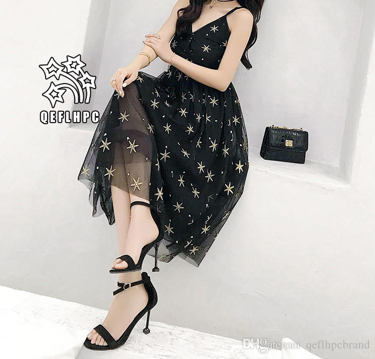 246ea8fe127 Women'S Clothes Dress Summer Sexy Beach Chiffon Dress Thin Polyester  Material Casual Dresses Chambray Longuette Striped Black V Neck A2 Dress  Purchase Sun ...