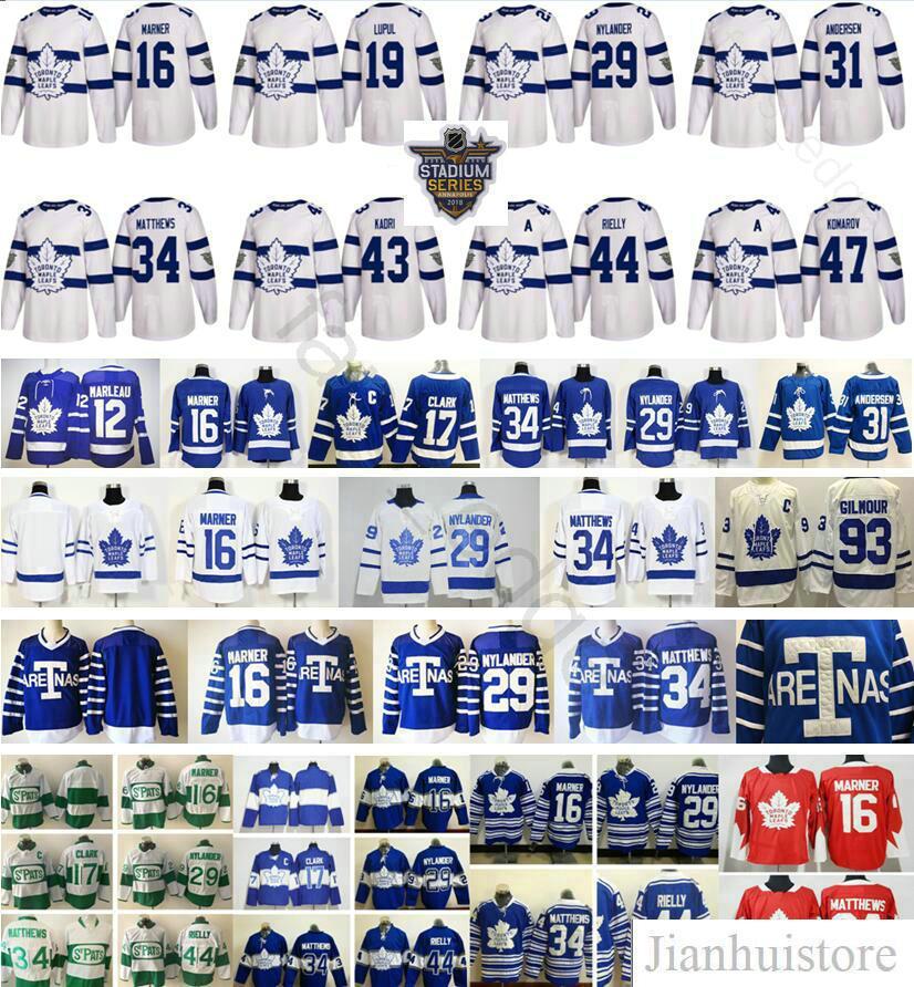 2018 Stadium Series Toronto Maple Leafs 19 Joffrey Lupul 43 Nazem Kadri  Morgan Rielly 47 Leo Komarov Mitchell Marner Auston Matthews Jersey Joffrey  Lupul ... 138d5c4d4