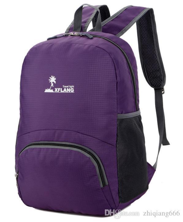 Sacos de montanhismo ao ar livre, impermeável, portátil esportes dobrar sacos, homens e mulheres convenientes viajar sacos de ombro de pele.