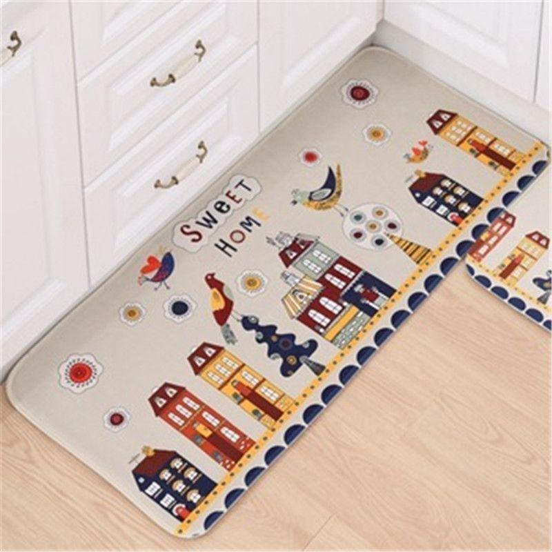 Kitchen Floor Mat Printing Cartoon Bedroom Living Room Carpet ...