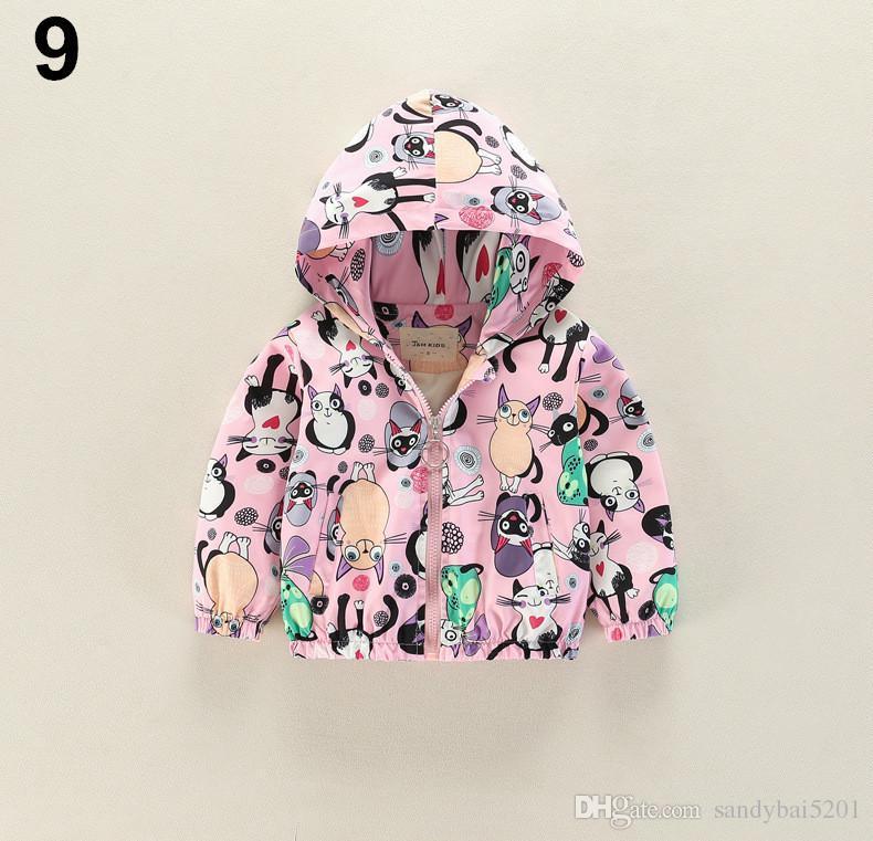 d42577086 Kids Boys Boys Jackets 2-7Y Baby Boys Girls Cartoon Hooded Coats ...