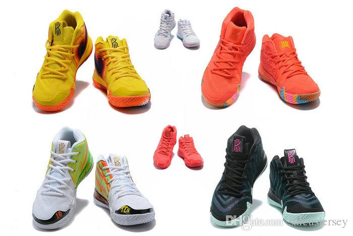 c6927f183cc 2018 New Kyries 4 EP 70s Uncle Drew Decades Pack Yellow Men Women Kids  Basketball Shoes Irving IV Lucky Charms Cereal Red Brown Sports Shoes Kids  Black ...