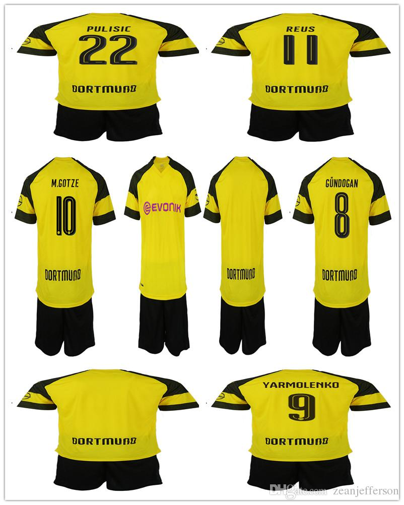 timeless design 63042 386ff promo code for dortmund 22 pulisic yellow soccer club jersey ...