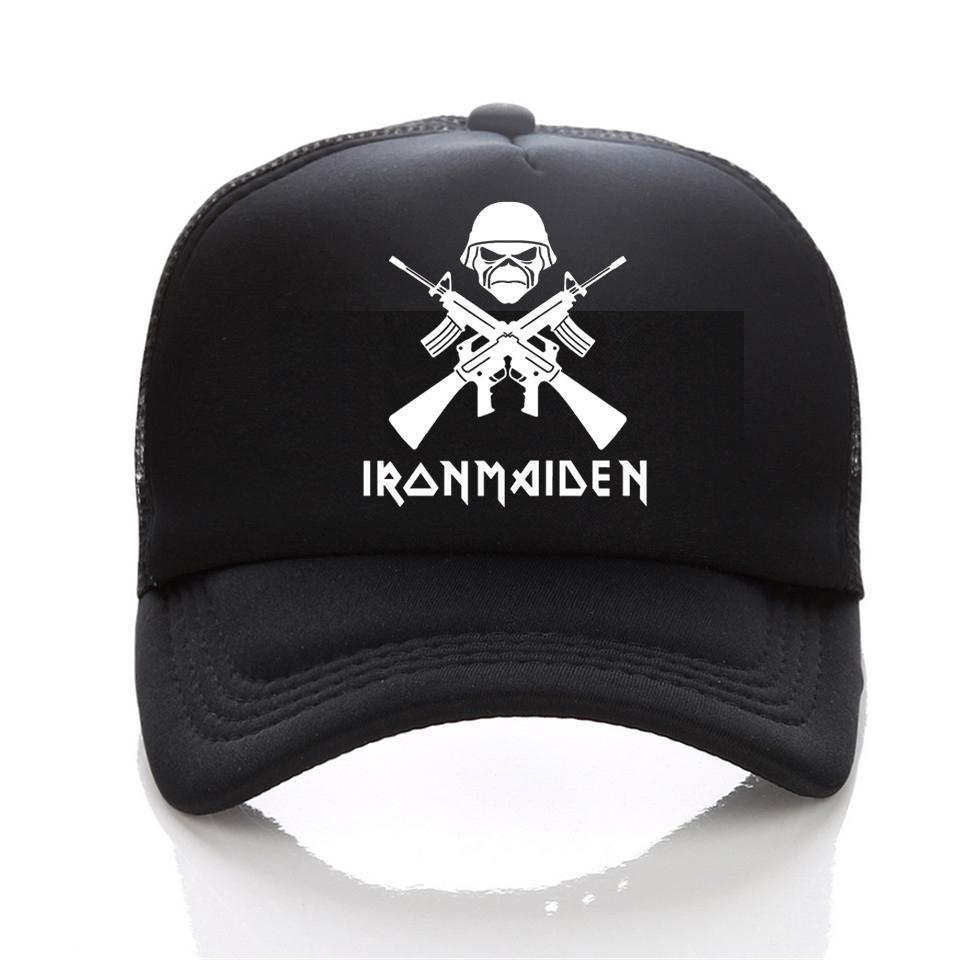 2017New Iron Maiden Metal Band Rock Music Cap Men Casual Brand Summer  Baseball Caps Women Cap Trucker Hip Hop Hat Army Cap Cheap Hats From  Value111 2a1320bc617