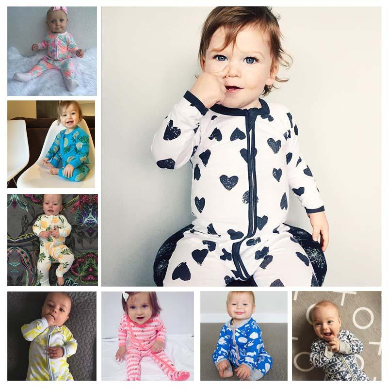 173ab1b7e546 2019 Infant Clothes New Children Pajamas Baby Rompers Newborn Baby ...