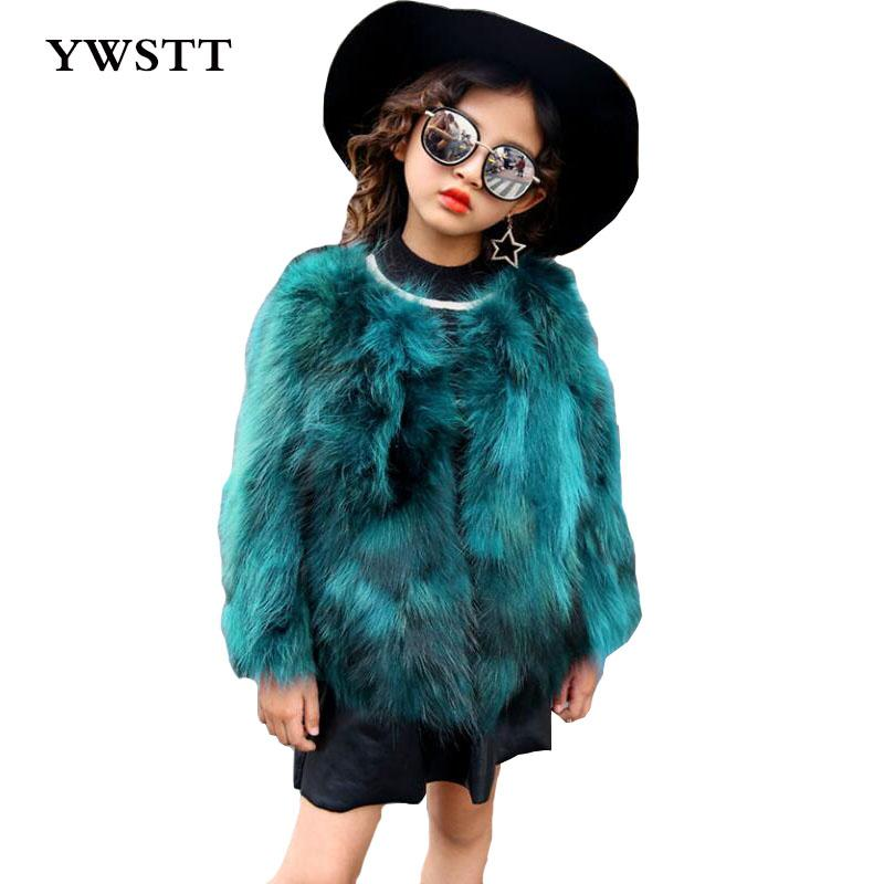 Children Real Crystal Fox Fur Coat 2017 New Autumn Winter Girls Boys Natural Fur Coat Clothing Warm Kids Thicken Jacket
