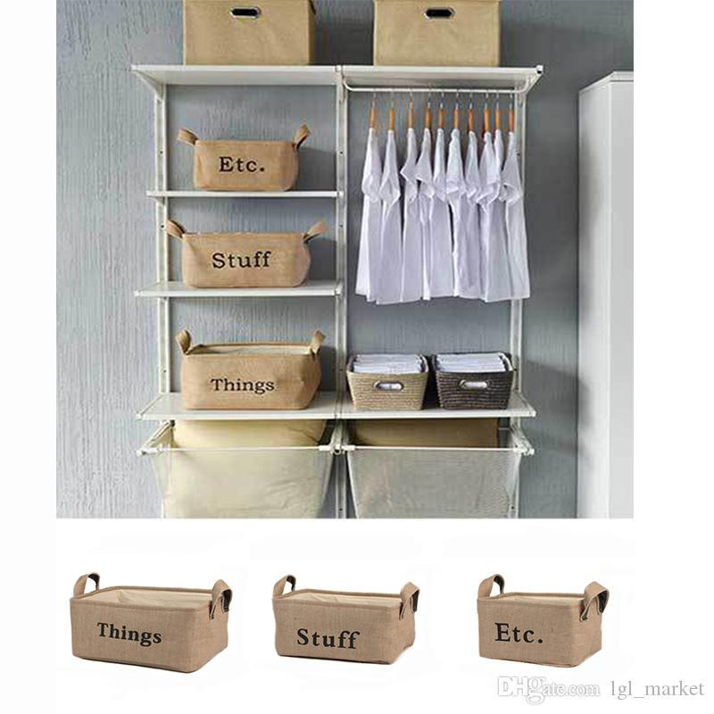 Rectangle Linen Storage Box Jute Storage Box Foldable Waterproof EVA  Thickening Basket S/M/L Home Decor Jute Storage Box Storage Baskets  Sundries Box Online ...