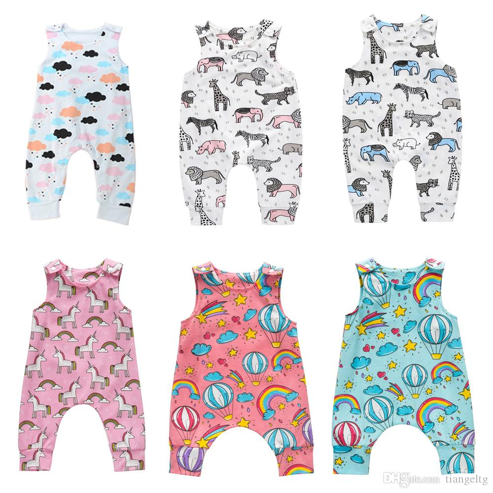 003ba274207be 2019 Baby Print Rompers 81 Designs Cactus Forest Dinosaur Unicorn Alpaca 4th  July Stars Boy Girls Newborn Infant Kids Summer Clothes Jumpsuit From  Tiangeltg ...