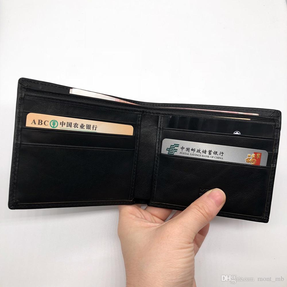 Luxury Men's Fashion Leather Wallet MB Short Clip Artisan Craftsmanship Designer Card Case MT Business Card Holder Quality M B Hot Wallets