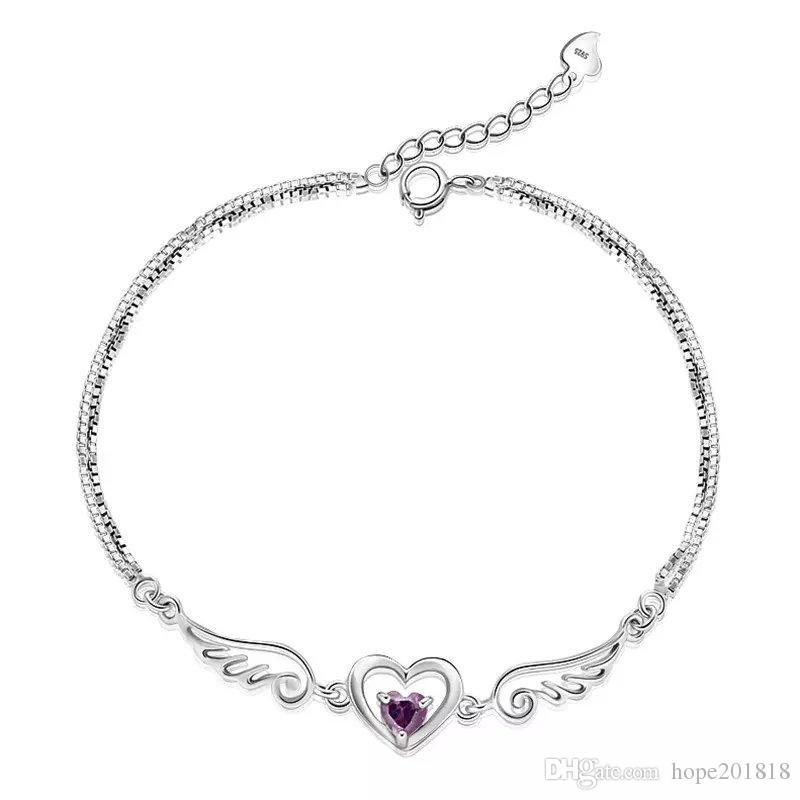 Silver jewelry silver bracelet female guard 1314925 cute simple ...