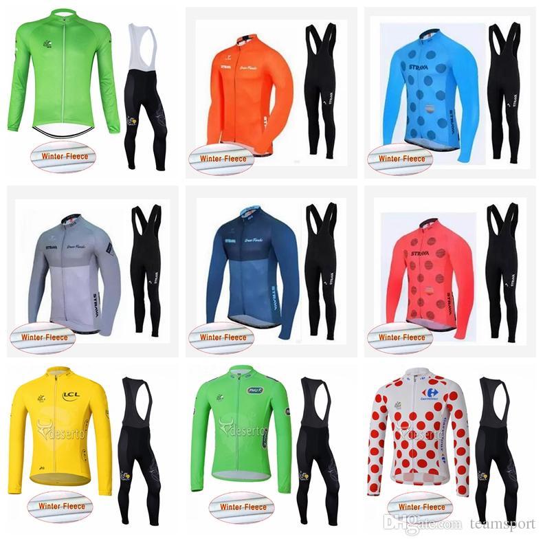 ... Winter Thermal Fleece Jersey Bib Pants Sets Hot Sale Racing Bicycle  Cycling Clothing Sets 841437 STRAVA Cycling Jersey Camisa De Ciclismo Ropa  Ciclismo ... 597274278