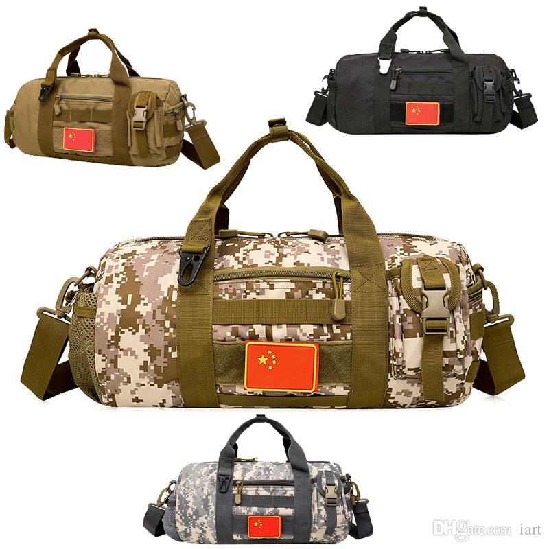 Outdoor camping sports shoulder bag hiking large pockets tactical Yuantong camouflage bag daily portable multifunctional men's canvas bag