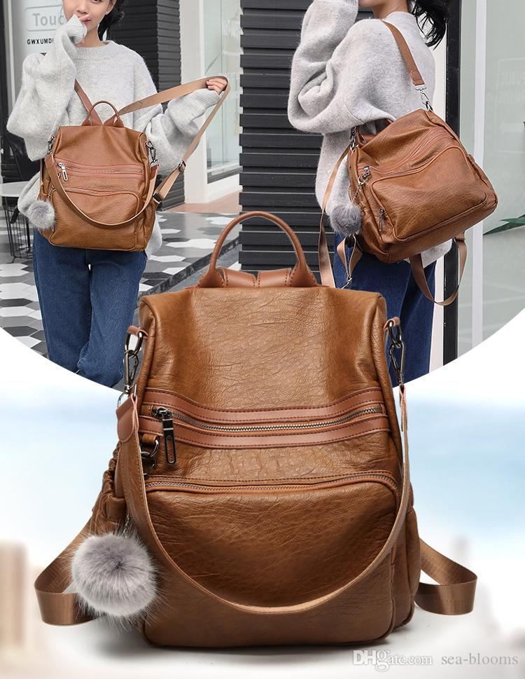 2018 Women Backpacks Fashion PU Leather Shoulder Bag Small Backpack School  Bags For Teenager Girl Bag G144L UK 2019 From Sea Blooms 4cf49a7b78