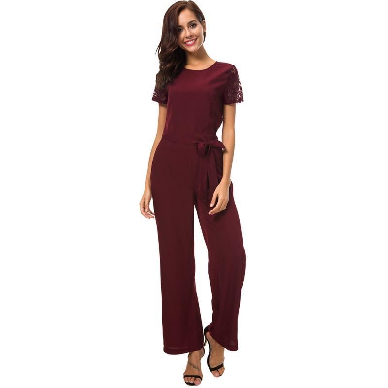 quality design 76bc9 029c6 Tute a maniche corte in pizzo a maniche corte, pagliaccetti da donna con  maniche lunghe eleganti