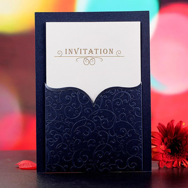 luxury royal blue invitations wedding business invitation cards with