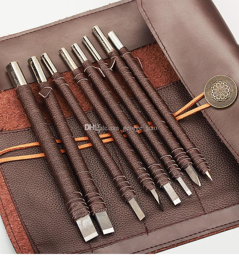 Tungsten stone carving chisel tool set hand made stone