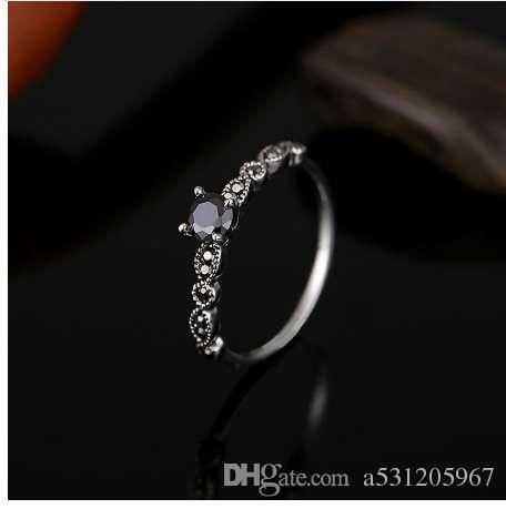 2018 Neue Mode Schmuck Vintage Hochzeit Party Engagement Ringe Für Frauen Rose Gold Silber Gold Gefüllt Ring Bague Femme Geschenk Schmuck & Zubehör