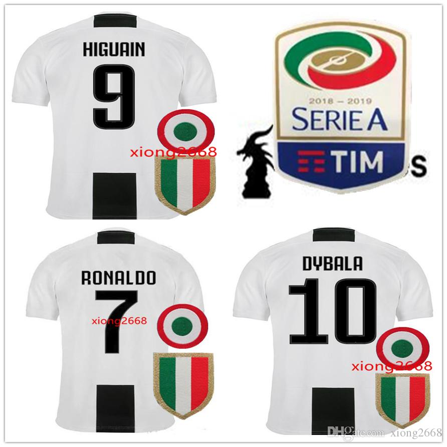 cf32226070 Compre 2019 Juventus Camisas De Futebol 18 19 Novo Juve RONALDO DYBALA  Camisas De Futebol MARCHISIO MANDZUKIC PJANIC HIGUAIN Uniforme De Futebol  Vendas De ...