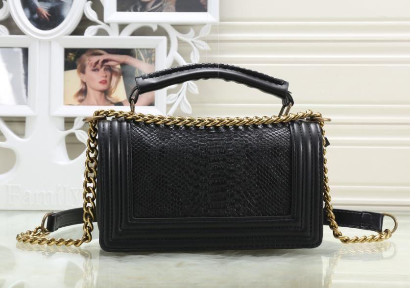bfec3c70c3 Leather Handbags Chain Solid Shoulder Bag Mini Bags Woman Messenger ...