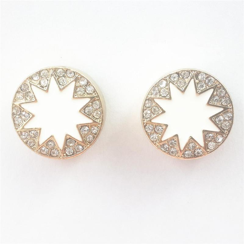 New Women Studs Earrings Resin Daisy Sunflower Sun Flower Gold Alloy Metal Ear Stud Post Earring Lady Girl Fashion Jewelry