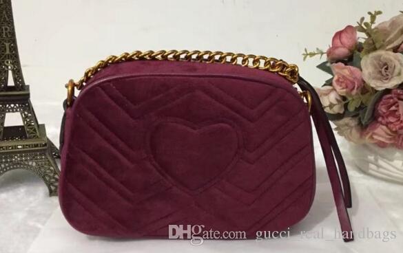 82b7a72fb53969 Marmont Velvet Bag Women Famous Brand Shoulder Bags Real Leather ...