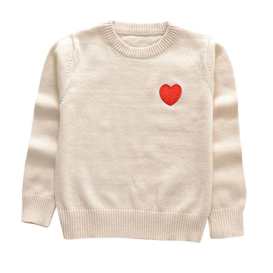 Compre Bebé Niños Otoño Primavera Suéteres Niños Ropa Corazón ...