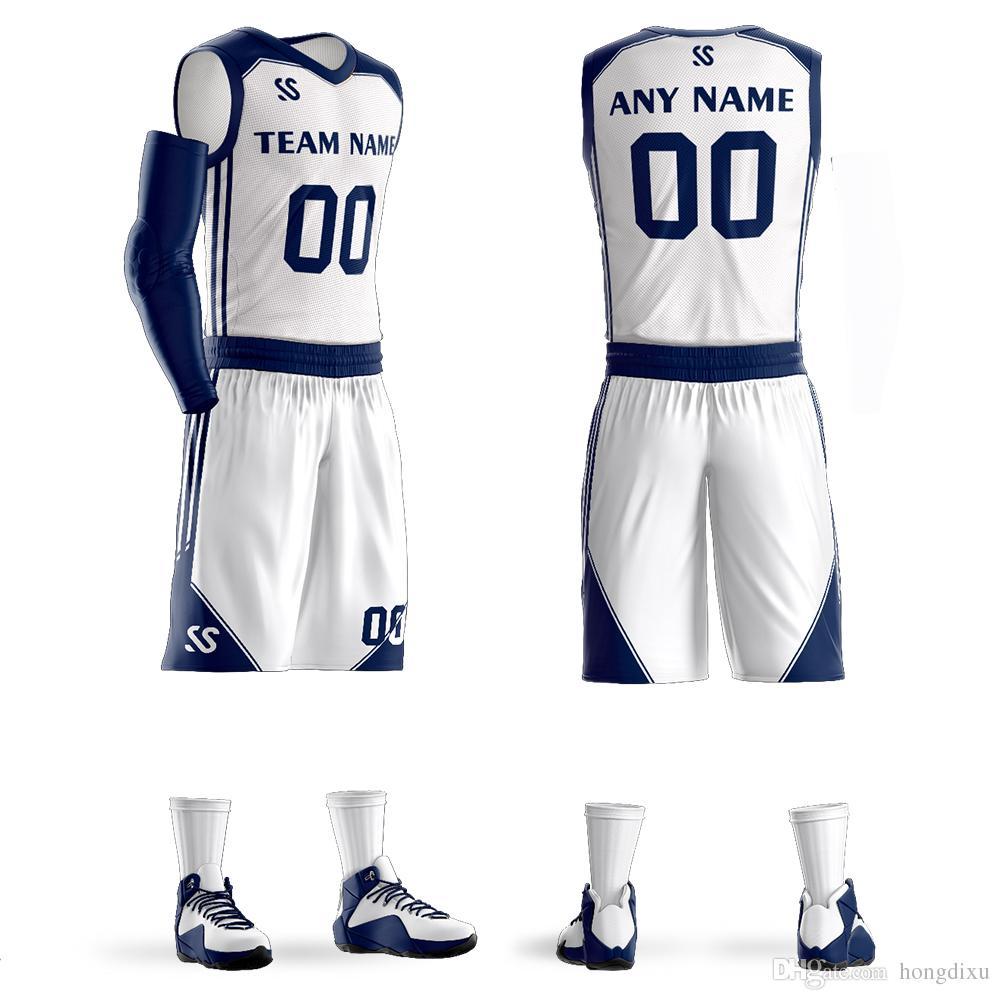 2019 2018 Men S Custom Basketball Jerseys Sets Same Star  00 Custom Jerseys  DIY Team Custom Basketball Sets 6XL White From Hongdixu 82fa52174