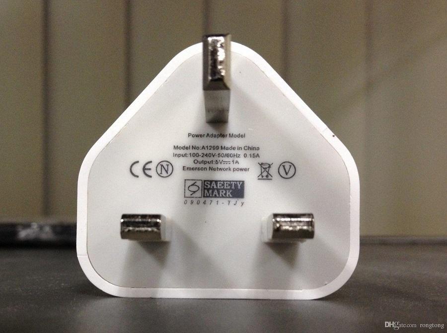 Prezzo all'ingrosso di fabbrica universale 5 V 1A spina UK carica veloce caricabatterie da viaggio adattatore dock caricabatterie da parete usb samsung s9 8 plus