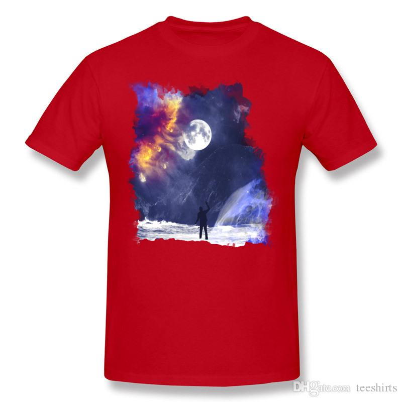 Sconto Uomo 100% cotone incontri alla fine del mondo T-Shirt Uomo O collo Bianco manica corta T-Shirt grande taglia personalizzata T-Shirt