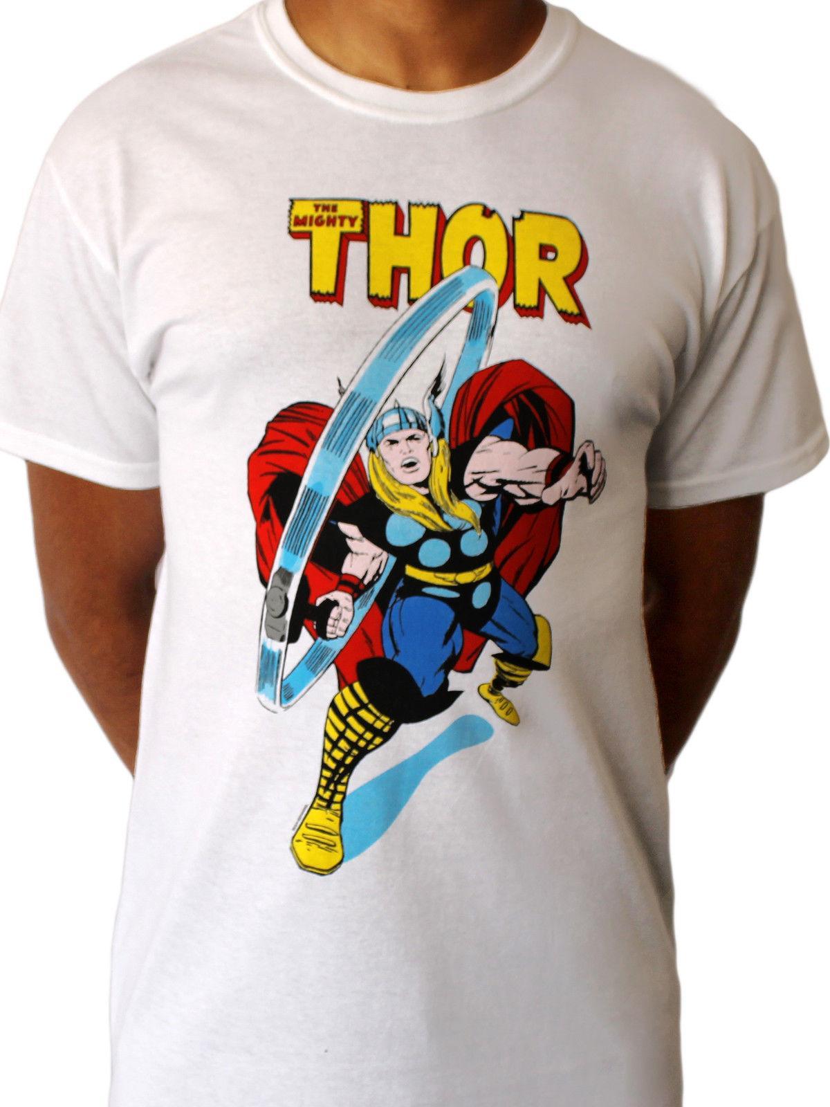 1ac85e73 Mighty Thor Hammer Marvel Comic Avengers Ragnarok Movie White Mens T Shirt  Cool Casual Pride T Shirt Men T Shirts Online White Shirt From  Designtshirts, ...