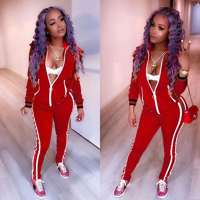 6176c873 2019 Striped Tracksuit Women Set Autumn Winter Front Zip Jacket Top And Pants  Suits Casual Two Piece Sweatsuits Tracksuits From Cailey, $35.36 |  DHgate.Com