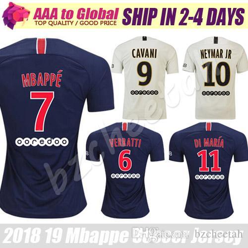 Compre Mabots De Futebol Psg Mbappe Neymar Jr Camisas De Futebol Di Maria  Verratti Camisas Cavani 2019 Chandal Psg Camisa De Futebol De Bzcheetah d87886de2ad3d