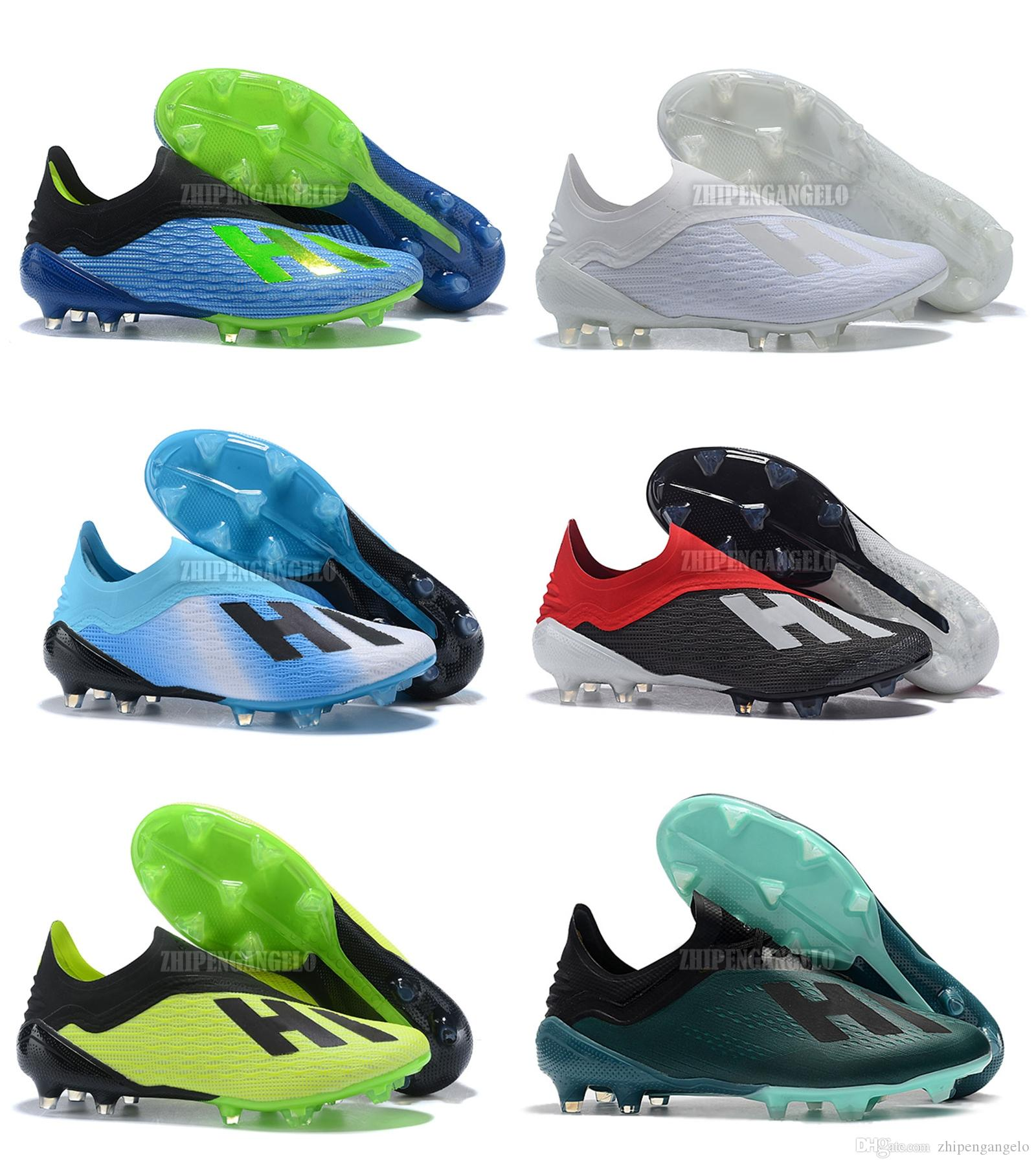 04cf092c9 2019 2018 World Cup X 18+ Purespeed FG Football Boots Original Quality X  18+ Soccer Cleats Laceless Mens Soccer Shoes From Zhipengangelo, $43.41 |  DHgate.