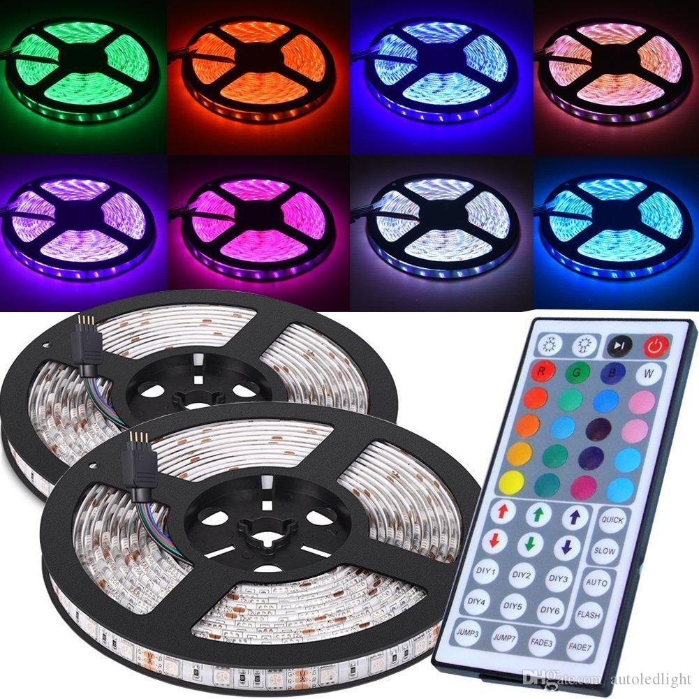 44 keys IR Remote Controller for SMD 5050 3258 RGB LED Strips 7 led module Light box drive DC 12V Led light strip