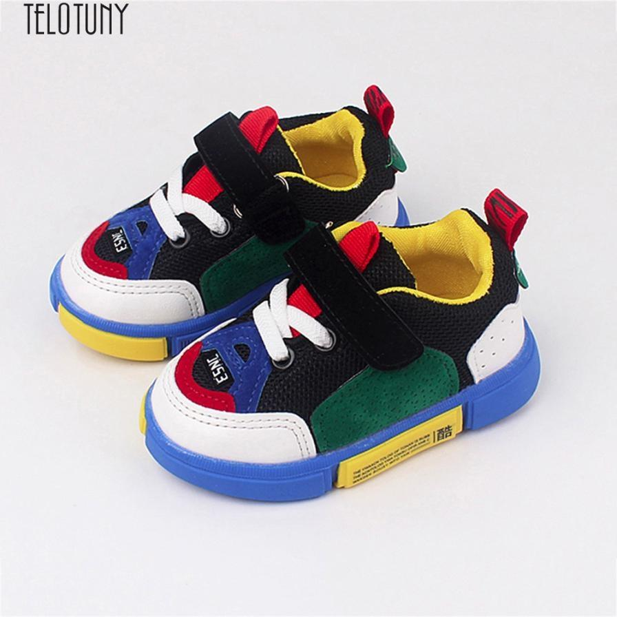 5052916eac76 Toddler Kids Sport Running Baby Shoes Boys Girls Mesh Soft Sole Shoes  Sneakers Running Z0725 Kids Sneakers Sale Kids Sneaker Sale From Qwinner