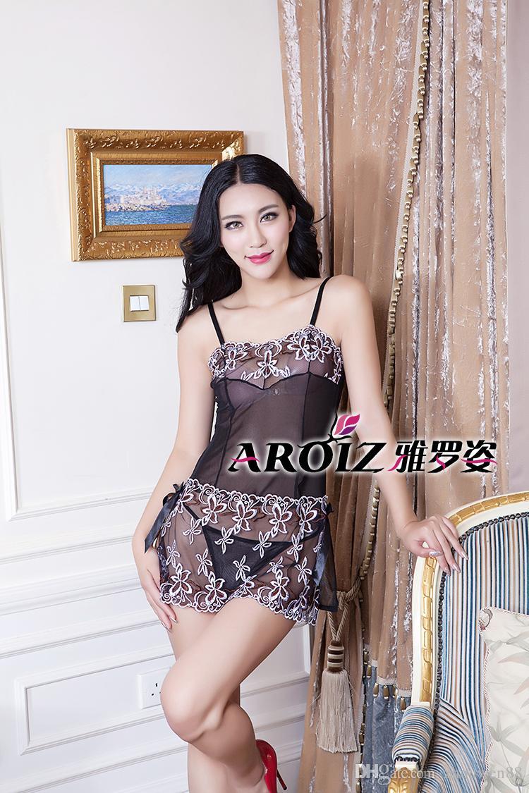 5c9c8fdcdc842a Madura feminina beleza especial sexy pijama estilingue transparente  ultra-fino rendas cueca nova sexy pijama T calções atacado