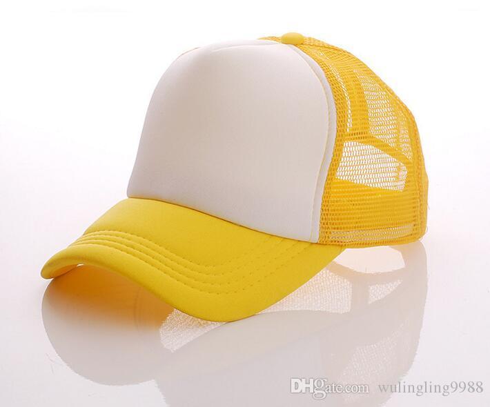 Sombrero llano de los deportes sombreros de camionero Snapback ajustable para adultos para hombre para mujer logotipo personalizado de impresión en blanco gorras de béisbol Snapback malla Visera de sol