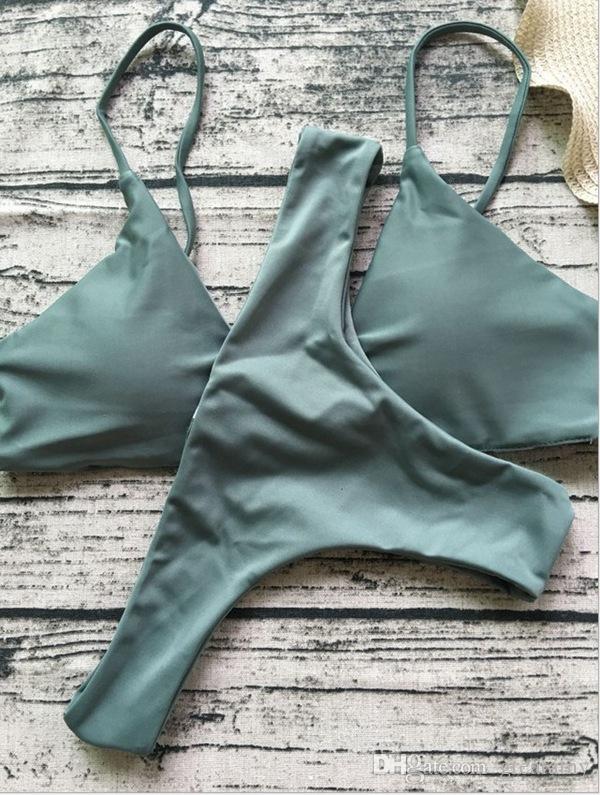 Attractive women fashion push-up padded bra beach bikini set swimsuit swimwear lady bathing suit top quality