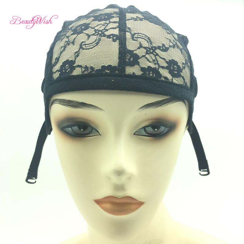 Tools & Accessories Fashion Style 1 Pcs Double Lace Wig Caps For Making Wigs And Hair Weaving Stretch Adjustable Wig Cap Hot Black Dome Cap For Wig Hair Net