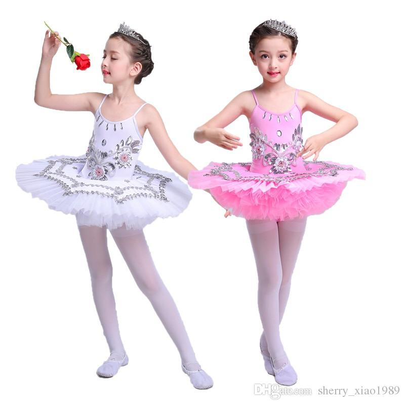 7bd1fa77882f 2019 Professional White Swan Lake Ballet Tutu Costume Girls Children ...