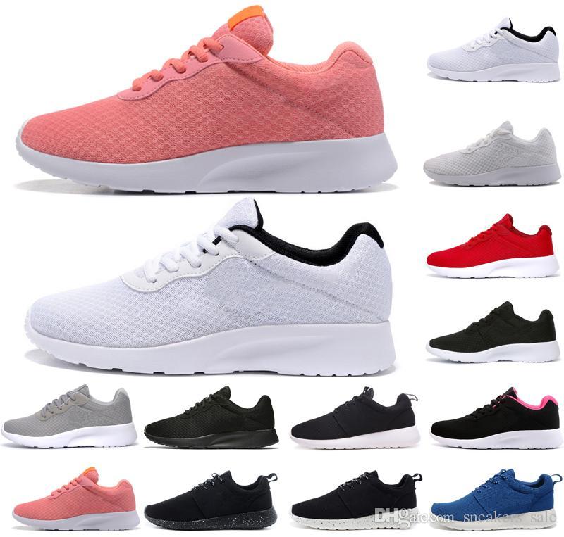 8877fe9fe80 Nike Roshe Run One Tanjun Zapatos De Correr Clásicos Tanjun Negro Blanco  Zapatos De Diseño Para Mujer De Hombre London Olympic Runs Mens Sport Shock  Footing ...