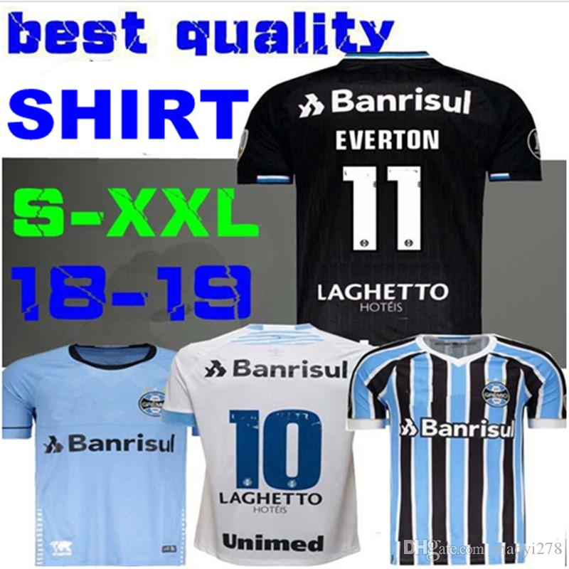 218e009bec8 2019 Best Quality 2018 Gremio Soccer Jersey 18 19 Gremio MILLER LUAN  DOUGLAS DIEGO HAILON Home Away Third Football Shirts Camisetas De Futbol  From Maoyi278
