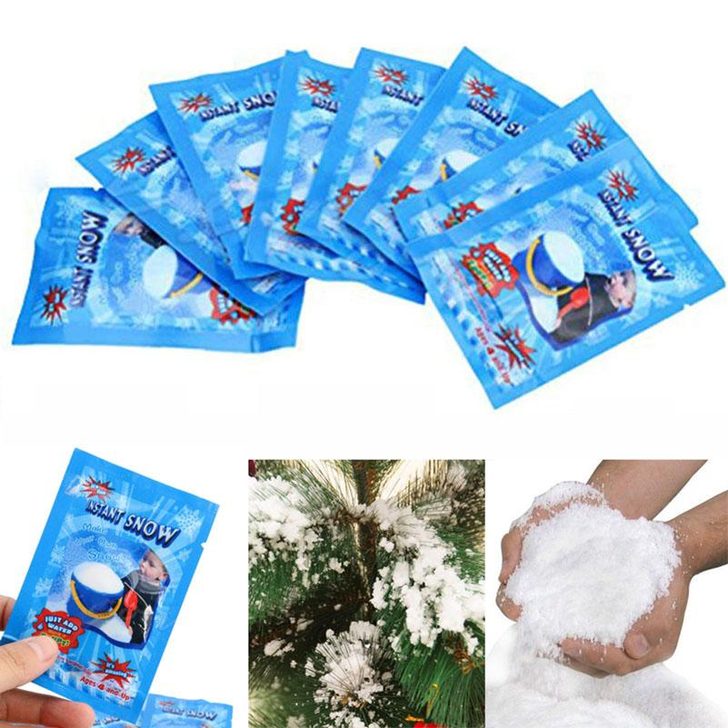 Instant Snow Magic Prop DIY Instant Artificial Snow Powder Simulation Fake  Snow For Christmas Decoration Party Supplies