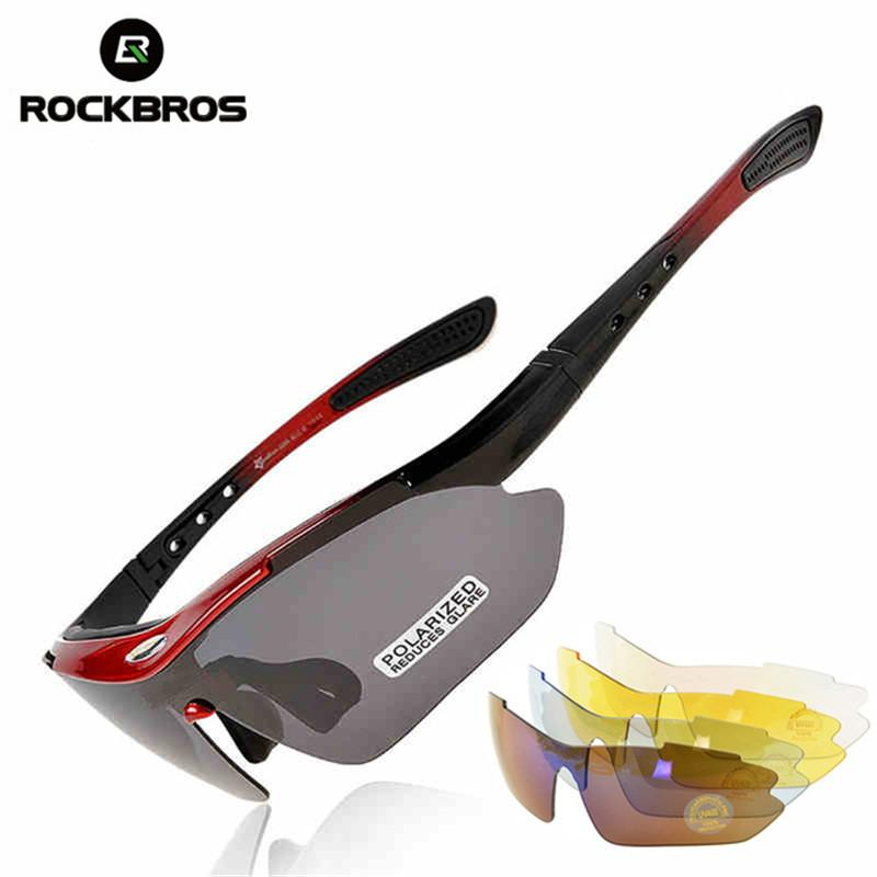 0de73ab7598 2019 ROCKBROS Cycling Polarized Sunglasses For Men Sports Goggles Mountain  Bike Riding Safety Glasses With 5 Lens From Huanbaoxin