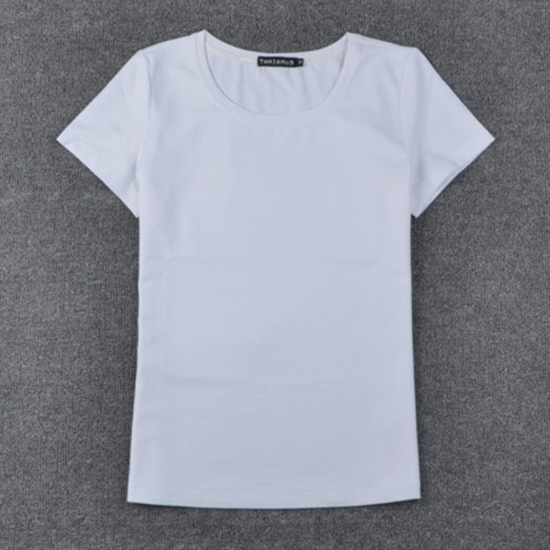 Mangas Negro Señora Blanca Camiseta Mujer Compre Camisetas Patrón Algodón Puro Para Color Sin Cómodo 8E77BqwXOx