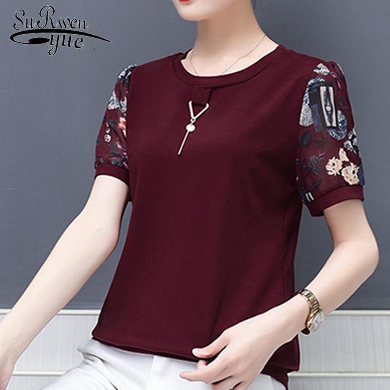 Compre Las Mujeres De Moda Blusa Camisas 2018 Camisa De Chifón De Impresión  Suelta Señoras Blusas Flojas Blusa De Talla Grande Mujeres Mujeres Tops  Blusa ... 8386348417d14