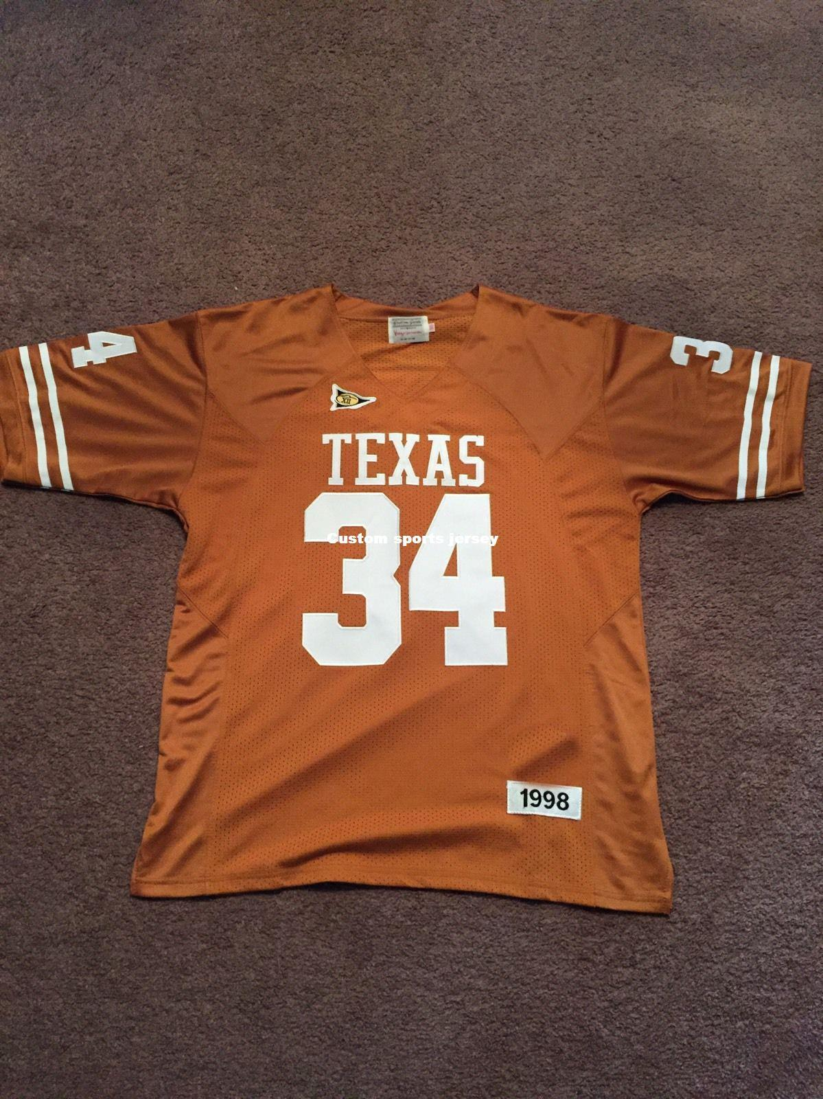 fc4fba18a18 2019 Cheap Custom 1998 Ricky Williams Texas Longhorns NCAA Football Jersey  Stitch Customize Any Number Name MEN WOMEN YOUTH XS 5XL From  Customsportsjersey