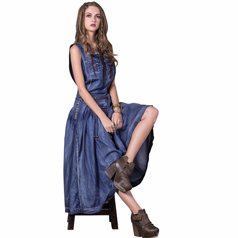 Women\'S Blue Denim Dress Short Sleeve Button Up Jean Shirt Dress ...